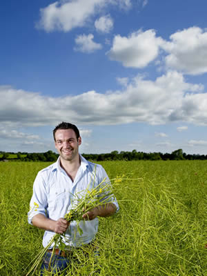 Stephen in One of Our Rapeseed Fields